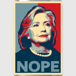 Hillary Clinton NOPE 2016 American Apparel Shirt - Water Bottle