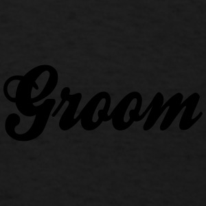 Cool Groom Script Design Caps - Men's T-Shirt