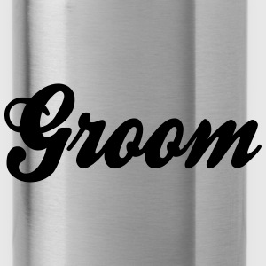Cool Groom Script Design Caps - Water Bottle