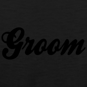 Cool Groom Script Design Caps - Men's Premium Tank
