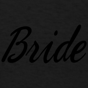 Cute Bride Script design Caps - Men's T-Shirt