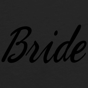 Cute Bride Script design Caps - Men's Premium Long Sleeve T-Shirt