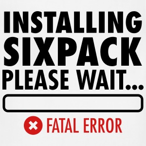 Installing Sixpack (Fatal Error) Women's T-Shirts - Adjustable Apron