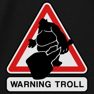 warning troll Bags & backpacks - Men's Premium T-Shirt