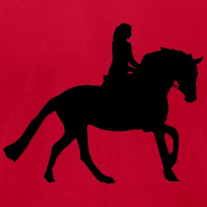 horseback riding Sweatshirts - Men's T-Shirt by American Apparel
