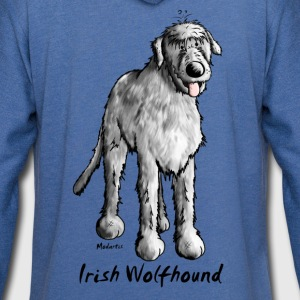 Cute Irish Wolfhound T-Shirts - Unisex Lightweight Terry Hoodie