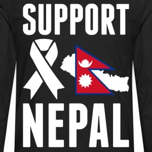 SUPPORT NEPAL - Earthquake In Nepal T-Shirts - Men's Premium Long Sleeve T-Shirt
