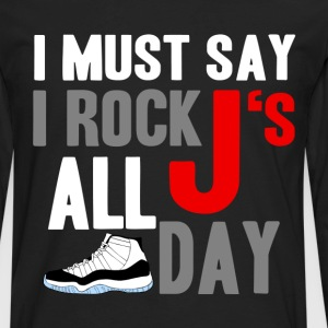 rock_js all day cords Hoodies - Men's Premium Long Sleeve T-Shirt