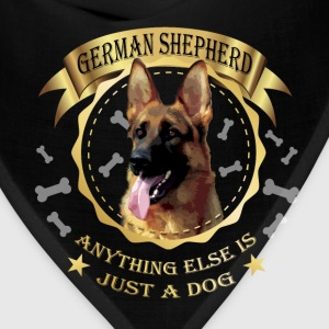 German Shepherd T-shirt -Anything else is just dog - Bandana