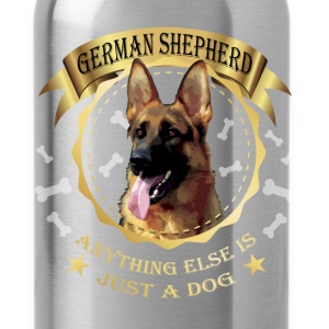 German Shepherd T-shirt -Anything else is just dog - Water Bottle