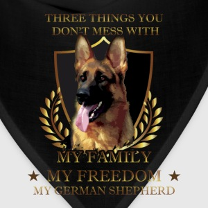 German Shepherd T-shirt - Don't mess Shepherd - Bandana