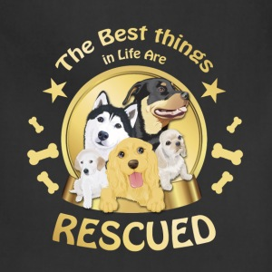 Animal rescue T-shirt - The best things in life - Adjustable Apron