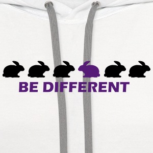 be different bunny T-Shirts - Contrast Hoodie