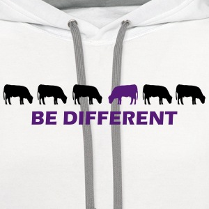 be different cow T-Shirts - Contrast Hoodie