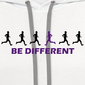 be different runner T-Shirts - Contrast Hoodie