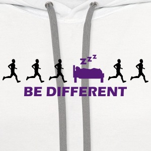 be different sleeping T-Shirts - Contrast Hoodie
