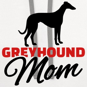 Greyhound Mom Women's T-Shirts - Contrast Hoodie