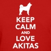 Keep calm and love Akitas Women's T-Shirts - Women's T-Shirt