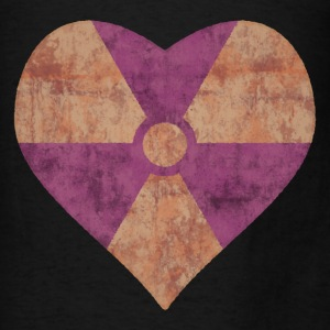 Radiation Symbol Heart - Men's T-Shirt