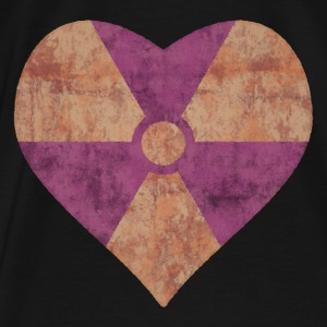 Radiation Symbol Heart - Men's Premium T-Shirt