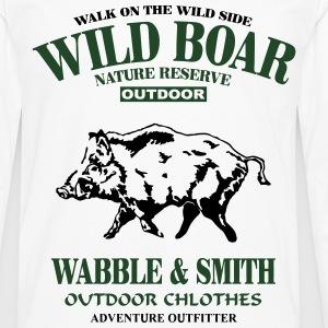 Wild Boar T-Shirts - Men's Premium Long Sleeve T-Shirt