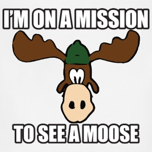 Mission To See a Moose Vacation T-Shirts - Adjustable Apron