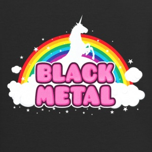 BLACK METAL! (Funny Unicorn / Rainbow Mosh Parody Zip Hoodies & Jackets - Contrast Hoodie