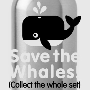 Save the whales (Collect the whole set) Kids' Shirts - Water Bottle