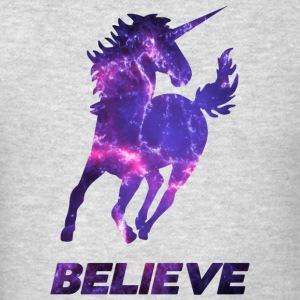 BELIEVE UNICORN HOODIE - Men's T-Shirt