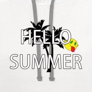hello summer T-Shirts - Contrast Hoodie