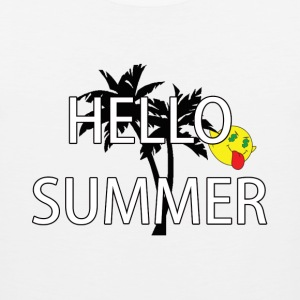 hello summer T-Shirts - Men's Premium Tank
