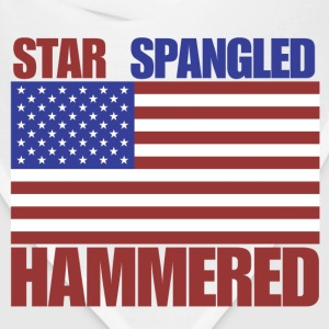 4th of July star spangled hammered  - Bandana