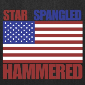 4th of July star spangled hammered  - Tote Bag