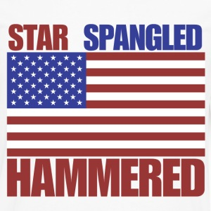 4th of July star spangled hammered  - Men's Premium Long Sleeve T-Shirt