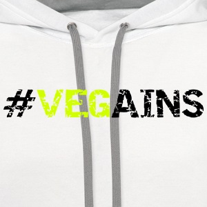 Vegains T-Shirts - Contrast Hoodie