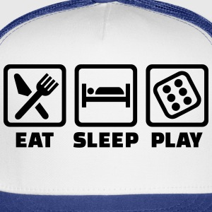 Eat Sleep Dice T-Shirts - Trucker Cap