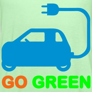 GO GREEN ~ DRIVE ELECTRIC VEHICLES T-Shirts - Women's Flowy Tank Top by Bella