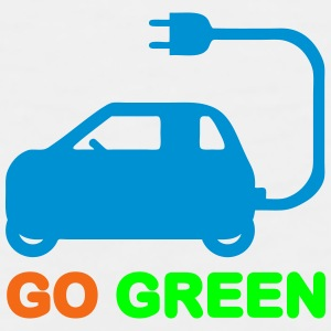 GO GREEN ~ DRIVE ELECTRIC VEHICLES Caps - Men's Premium Tank
