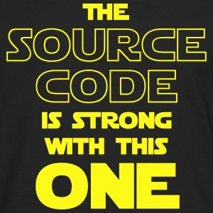 THE SOURCE CODE IS STRONG WITH THIS ONE Kids' Shirts - Men's Premium Long Sleeve T-Shirt