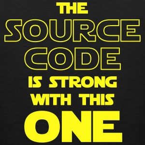 THE SOURCE CODE IS STRONG WITH THIS ONE Kids' Shirts - Men's Premium Tank