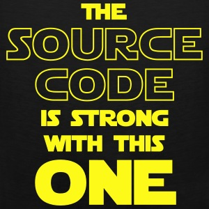 THE SOURCE CODE IS STRONG WITH THIS ONE Hoodies - Men's Premium Tank