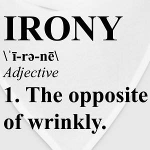 Irony-opposite of wrinkly Women's T-Shirts - Bandana