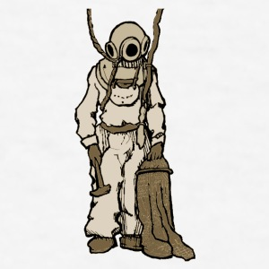 Vintage 19th Century Diver with Diving Equipment - Men's T-Shirt