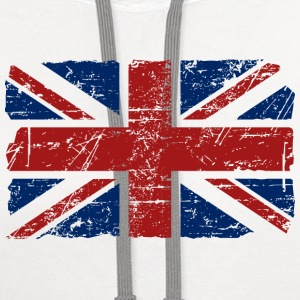 Union Jack Flag - Vintage Look Women's T-Shirts - Contrast Hoodie