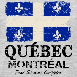 Quebec Flag - Vintage Look Hoodies - Men's Premium Long Sleeve T-Shirt