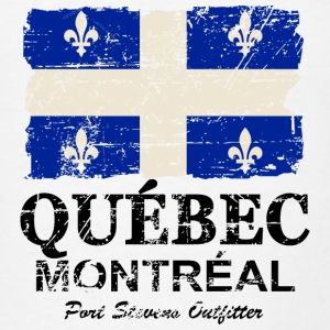 Quebec Flag - Vintage Look Hoodies - Men's T-Shirt