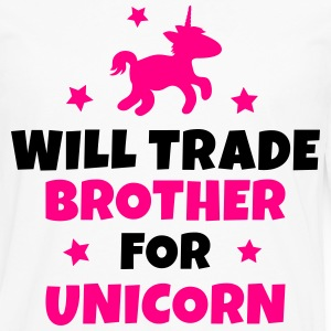 Will trade brother for unicorn Kids' Shirts - Men's Premium Long Sleeve T-Shirt