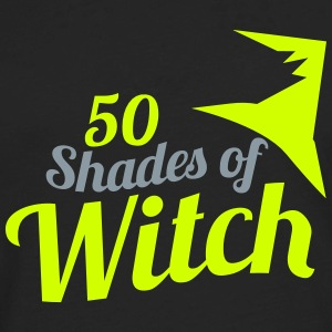 50 shades of Witch Halloween funny hat design Women's T-Shirts - Men's Premium Long Sleeve T-Shirt