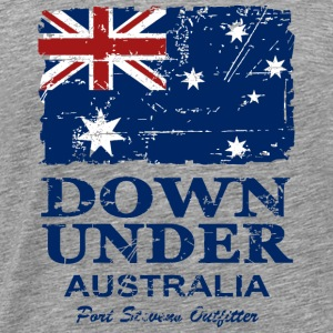 Australia Flag - Vintage Look Hoodies - Men's Premium T-Shirt