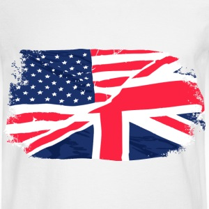 USA - Union Jack Flag - Vintage Look T-Shirts - Men's Long Sleeve T-Shirt
